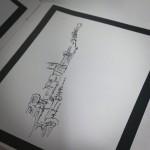 Tegning fra Grand Place...