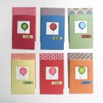 Kortene med deres yder-kuvert.